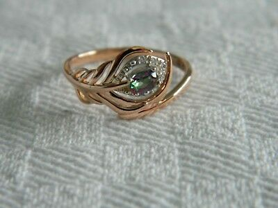 Clogau 18ct Rose Gold Peacock Throne Diamond Ring Size P RRP £800.00 • 499.95£