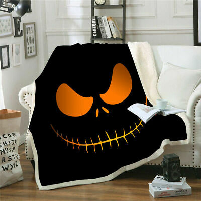 The Nightmare Before Christmas 3D Print Soft Blanket Funny Throws Festival Gift • 24.42£