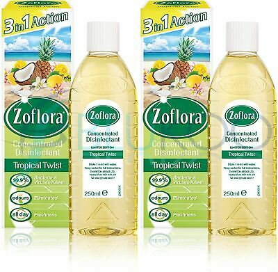 Zoflora Concentrated Disinfectant Tropical Twist - 250ml (Pack Of 2) • 8.17£