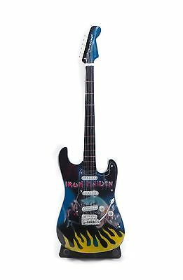 $ CDN21.26 • Buy Miniature Guitar IRON MAIDEN Guitar On Stand.  Includes Case