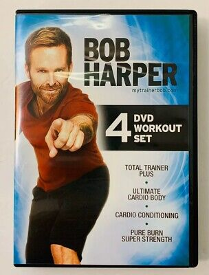 Bob Harper 4 DVD Workout Set Cardio Body & Conditioning Strength Total Trainer • 14.58£