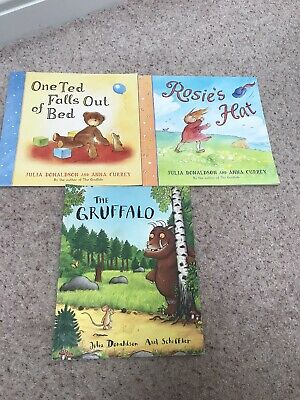Julia DonaldsonBook Bundle One Ted Falls Out Of Bed, Rosies Hat, Gruffalo 3+Year • 4.99£