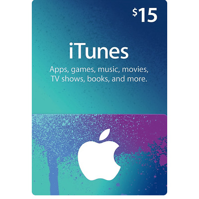 AU29.98 • Buy Apple ITunes Gift Card $15 USD - 15 Dollar United States Gift Card Voucher Fast