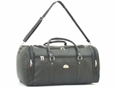 Leather Weekend Bag PU Look Travel Sports Cabin Gym Holdall Luggage KS9000 • 11.50£