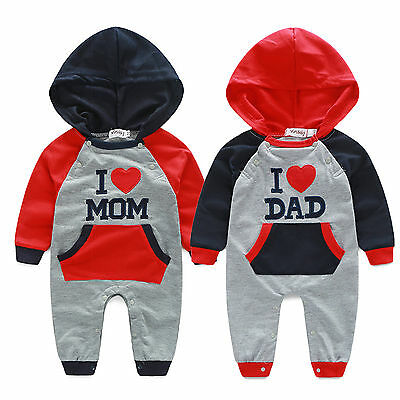 AU16.90 • Buy Newborn Baby Boys Girls Hooded Romper Bodysuit Jumpsuit Playsuit Outfits Clothes