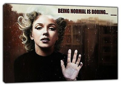 Marilyn Monroe BEING NORMAL   WALL ART ON DIFFERENT SIZES CANVAS PHOTOS PICTURES • 8.92£