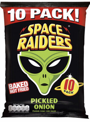 60 Packs Space Raiders Crisps Pack Pickled Onion 11.8g Every Child's Favourite • 22.99£