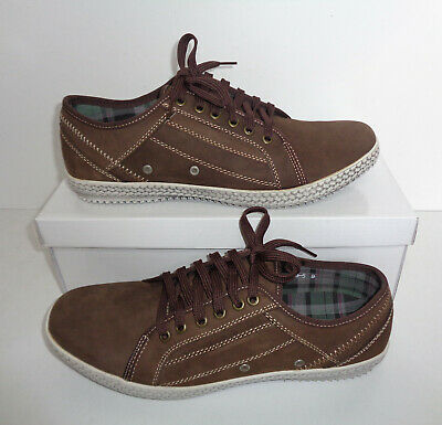 Mens Yachtsman Leather Casual Grey Shoes Comfort Boat Deck Trainers Size 7-11 • 15.48£