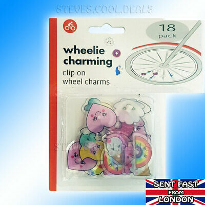 Wheel Spoke CHARM Beads Kids Bike Clip On Spokey Dokeys CUTE Colourful CHARMS • 4.98£