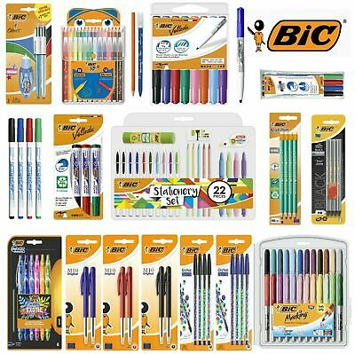 Bic Stationery Sets Pens, Pencils, White Board Markers, Gel Pens, Highlighters   • 4.99£