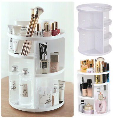 360° Rotating Cosmetic Organiser Makeup Vanity Plastic Storage Display Stand Box • 9.95£
