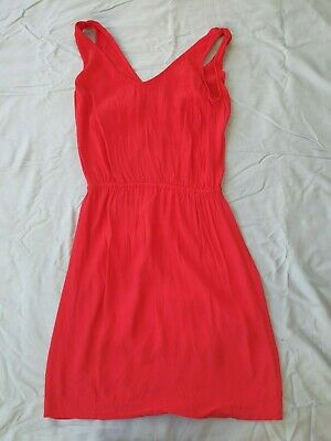 AU10 • Buy Cute Mango Red Summer Sun Dress - Size Small