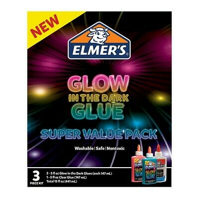 AU12 • Buy Elmers Glow In The Dark Glue - 3 Piece Pack