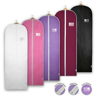 Dress Bags Garment Covers Clothes Gown Breathable Storage Travel Long Carrier • 6.99£