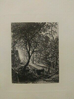 Engraving, Samuel Palmer's Etching, The Herdsman's Cottage 1872 (SUNSET/SUNRISE • 519.56£