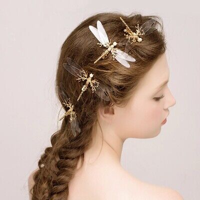 £2.77 • Buy Jewelry Costume Butterfly Hair Clips Bridal Hair Decor Wedding Pins Tiara