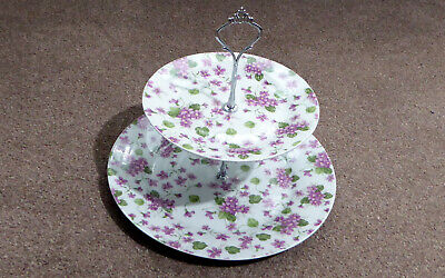 Boxed Two Tier Cake Stand And 6 Pastry Forks • 16£