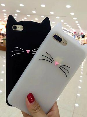 AU14.99 • Buy New Cute Glass Back Cover Cat Case For Oppo R9s A59 A57 Silicone Cover Skin