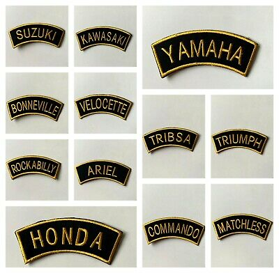 £1.99 • Buy Motorcycle-SCOOTER RALLY-GOLD SHOULDER FLASH-BIKER-Embroidered Patch Iron/Sew On