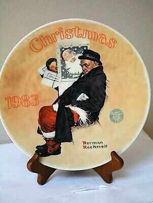 $ CDN16 • Buy Norman Rockwell Plate-- Santa In The Subway --Christmas Collection
