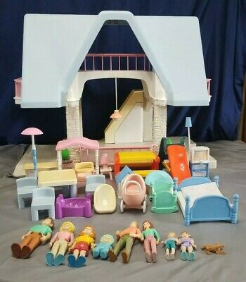 $149.95 • Buy Little Tikes Dollhouse Plastic Large Vintage Includes Dolls And Furniture 1989