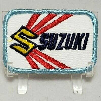 $5.95 • Buy Vintage New Old Stock Suzuki Biker Motorcycle Embroidered Iron-On Patch 3  X 2