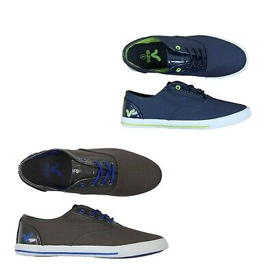 Voi Jeans Mens Canvas Trainers Plimsolls Casual Running Pumps Lace Up Shoes • 13.99£