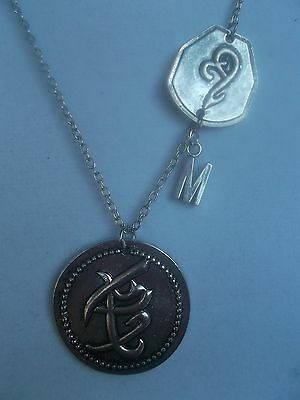 N025 The Mortal Instruments City Of Bones Fearless And Strength Necklace + • 9.40£