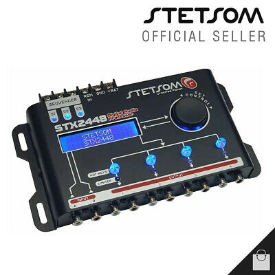 $ CDN158.57 • Buy Stetsom STX 2448 4 Way Crossover Equalizer Car Audio Processor - 3 Day Delivery