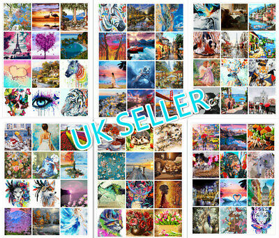 DIY Oil Acrylic Painting Kit Paint By Numbers Adult Children Beginners No Frame • 9.97£