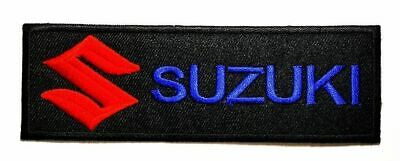 $7.25 • Buy Suzuki Motorcycles Biker Racing 11.7cm X 4cm Iron-on Or Sew-on Embroidered Patch