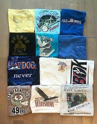 $ CDN162.92 • Buy 12 Vintage T-Shirt Lot 70s 80s 90s Roger Rabbit 49er Music Festival Screen Stars