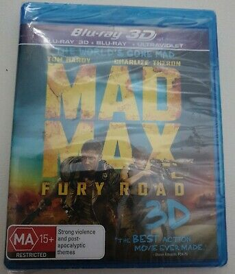 AU16 • Buy Mad Max Fury Road 3d + 2d Blu Ray - New & Sealed