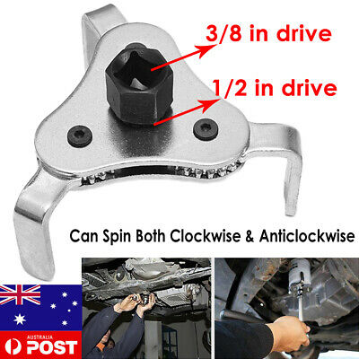 AU13.49 • Buy 2 Way 3 Jaw Engine Oil Filter Removal Wrench Tool -1/2  & 3/8'' Drive 65mm-110mm