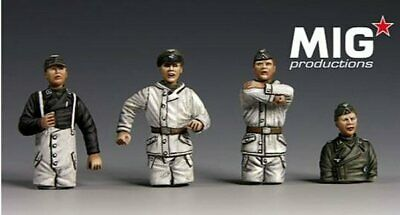 Mig Productions 48-063 German Winter Crew 1/48 Scale Resin Figures • 19.95£