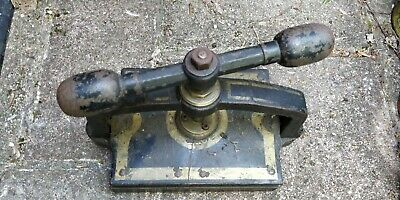 Antique Victorian Vintage Cast Iron Book Binding Press • 95£