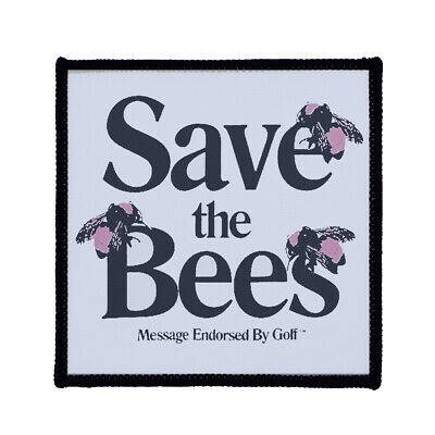 Square Printed Patch - Tyler Save The Bees Golf Sew On Badge In 3 Sizes • 2.99£
