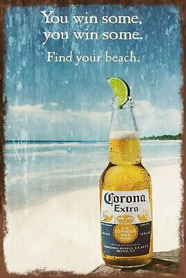 £3.99 • Buy Corona Extra Beer Advert Vintage Style Retro Metal Sign, Bar Pub Man Cave Shed