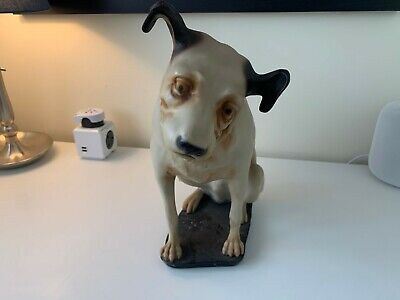 Vintage Original HMV His Masters Voice Dog Nipper 8  Figure RCA Victor  • 399.99£