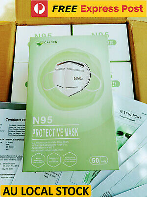 AU58 • Buy 10x N95 Respirator Protective Face Mask CA FDA Certified PM2.5 Protection