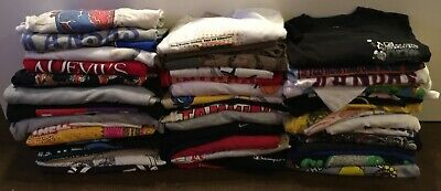 $ CDN104.26 • Buy Lot Of Vintage Shirts (5) Single Stitch 90's T-Shirts Various Sizes Resale Lot