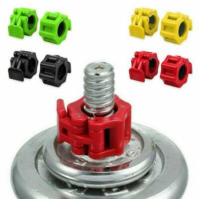 $ CDN15.79 • Buy 2X Olympic Dumbbell Barbell Bar Lock 1IN Weight Clamps Collars Gym Training 25mm