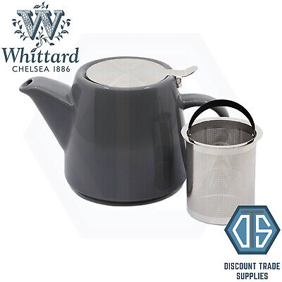 £19.99 • Buy Whittard Of Chelsea Charcoal Pao Teapot With Infuser Brew For 2 Grey Tea Pot