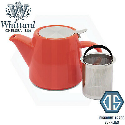 £12.99 • Buy Whittard Of Chelsea Coral Pao Teapot With Infuser Brew For 2 Orange Tea Pot