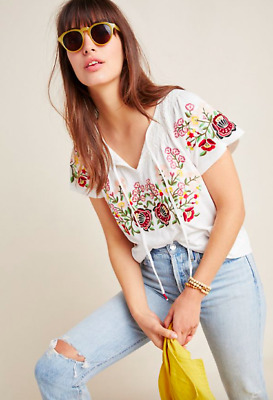 $ CDN45.73 • Buy Anthropologie NWT Elodie Embroidered Top XS
