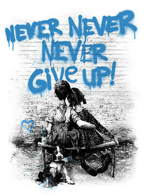 $ CDN1296.25 • Buy DON'T GIVE UP Mr Brainwash Print Poster MBW Never Norman Rockwell Love Banksy