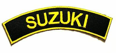 $7.25 • Buy Suzuki Motorcycles Biker Racing 11.5cmX2.5cm Iron-on Or Sew-on Embroidered Patch