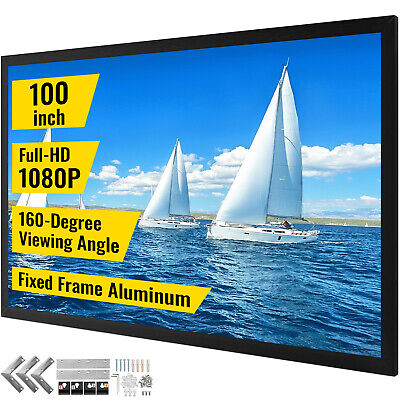 AU188.86 • Buy 100  Projector Screen Fixed Aluminum Frame Home Theatre HD TV Projection 3D