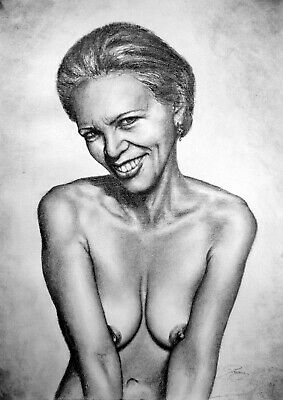 £38.94 • Buy Sensual Portrait, Draw On Charcoal, A3 Paper
