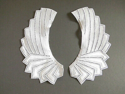 White Art Deco Style Broderie Anglaise Collar Geometric Pattern • 2.75£